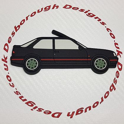 Peugeot 309 Fridge Magnet Black / Goodwood Wheels