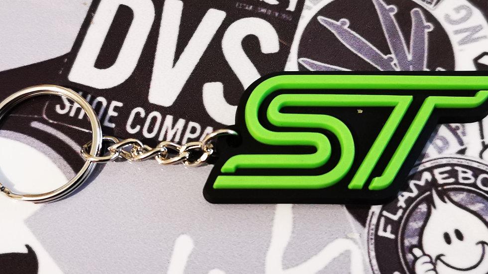 Ford Fiesta Focus ST Key ring Green  / Black