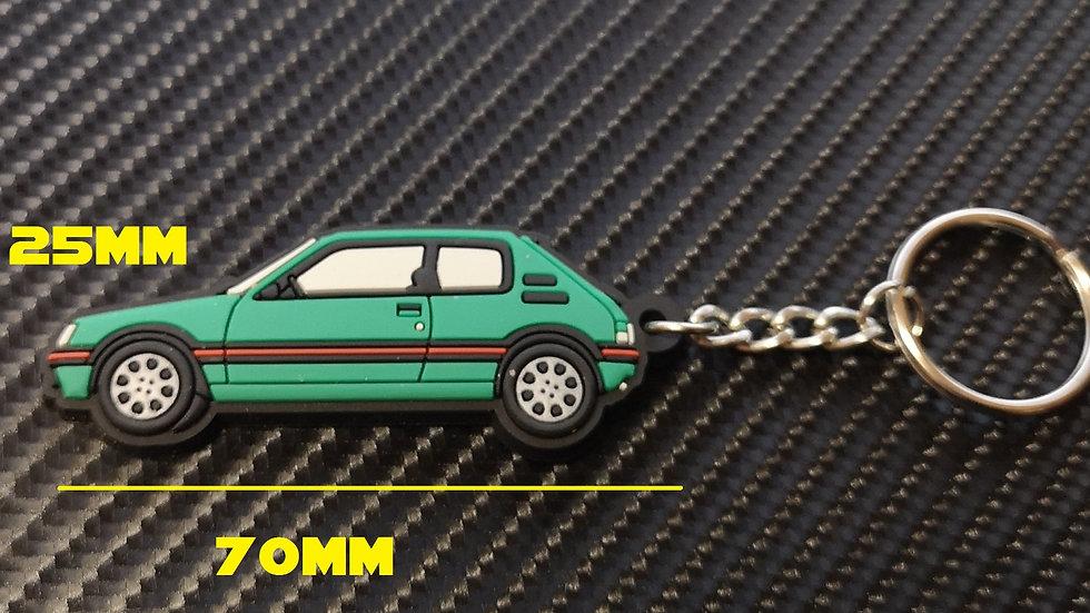 Peugeot 205 GTI Car Key Ring Griffe / Laser Green