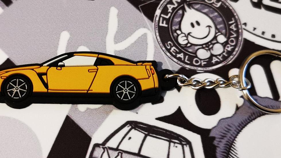 Nissan GTR R35 Burnt Orange Key Ring