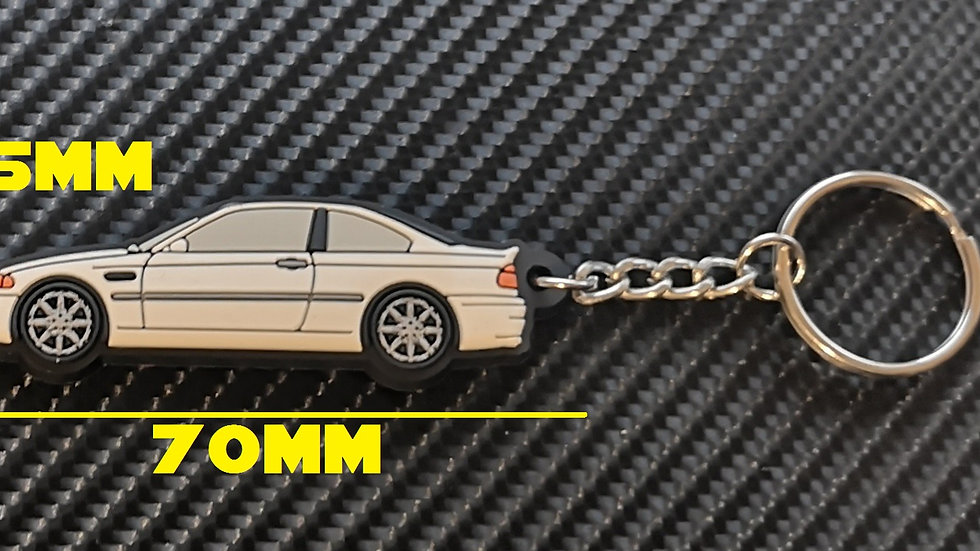 BMW E46 M3 Key Ring White