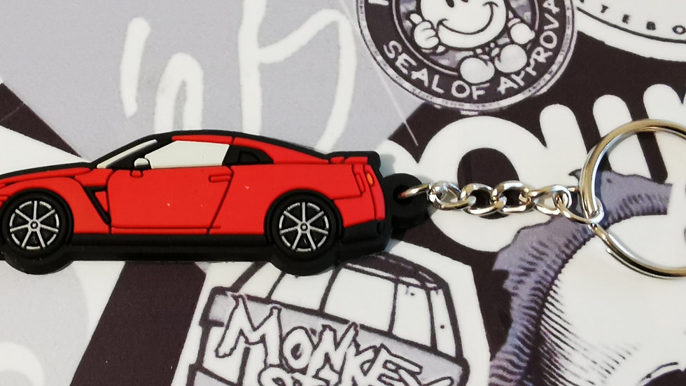 Nissan GTR R35 Red Key Ring