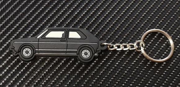 VW Golf Mk1 Key Ring Black