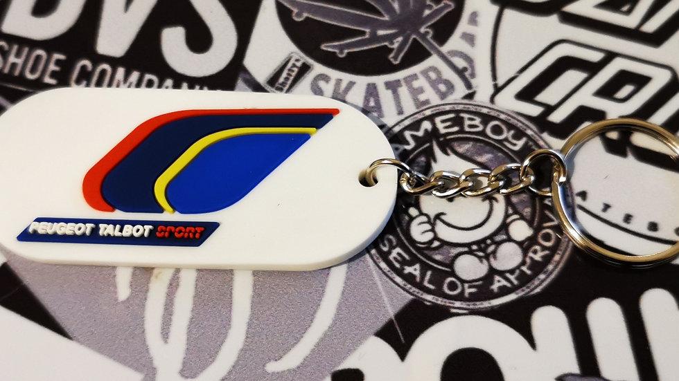 """Peugeot Sport Design Key Ring """"WHITE"""""""