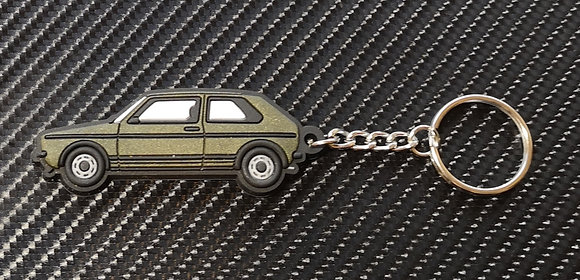 VW Golf Mk1 Key Ring Gold