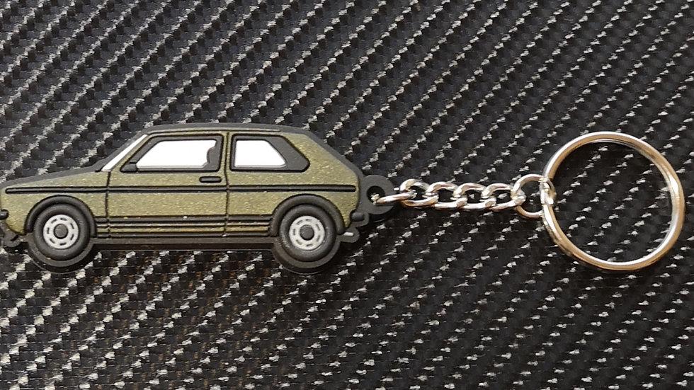 VW Golf Mk1 Key Ring Gold