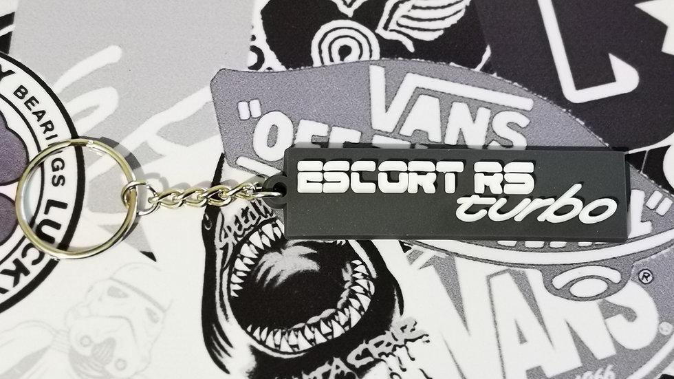 Escort RS Turbo Rear Badge Key Ring Grey