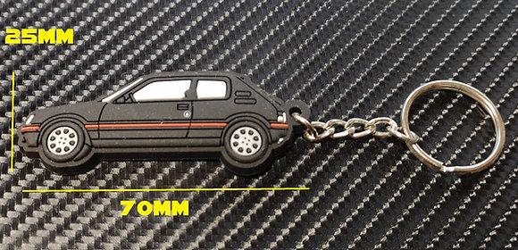 Peugeot 205 GTI Car Key Ring Black