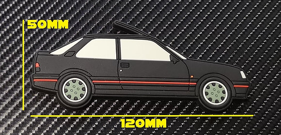 Peugeot 309 GTI Fridge Magnet Black Goodwood Wheels