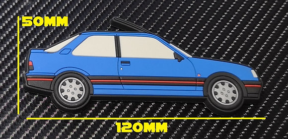 Peugeot 309 GTI Fridge Magnet Miami Blue