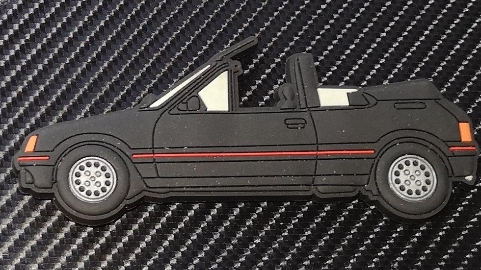 Peugeot 205 Cti Fridge Magnet Black