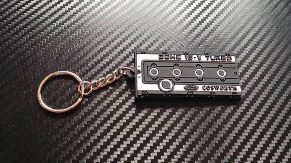 "Cosworth Rocker Cover Key Ring ""Black"""