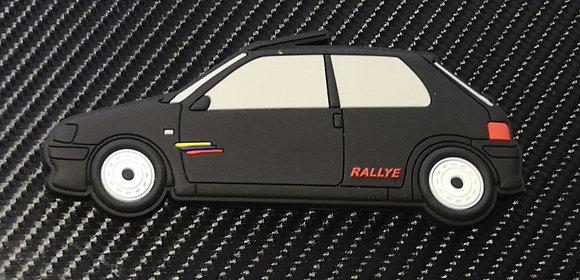 Peugeot 106 Fridge Magnet Phase 2 Rallye Black