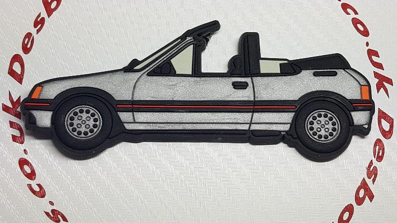 Peugeot 205 Cti Fridge Magnet Silver