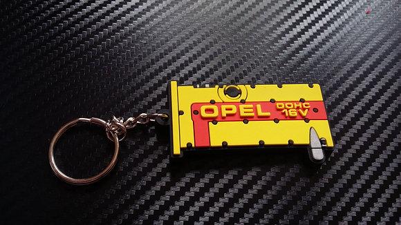 Opel C20XE Rocker Cover Key Ring Yellow/Red