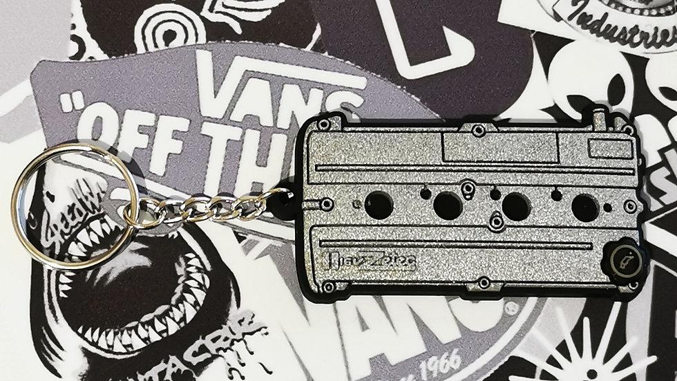 Ford Zetec Rocker Cover Key Ring Silver