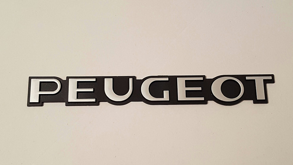 "Peugeot Reproduction Rear Badge ""Chrome"""
