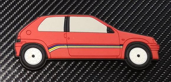 Peugeot 106 Fridge Magnet Phase 1 Rallye Red