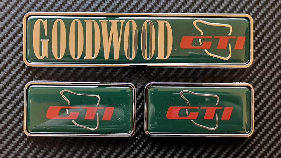 309 Goodwood reproduction badge set