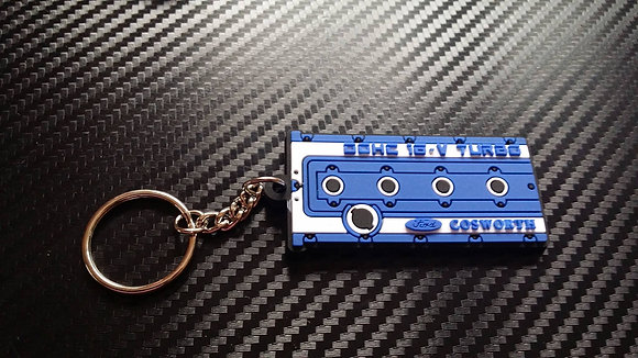"Cosworth Rocker Cover Key Ring ""Blue"""
