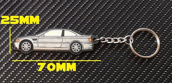 BMW E46 M3 Key Ring Silver