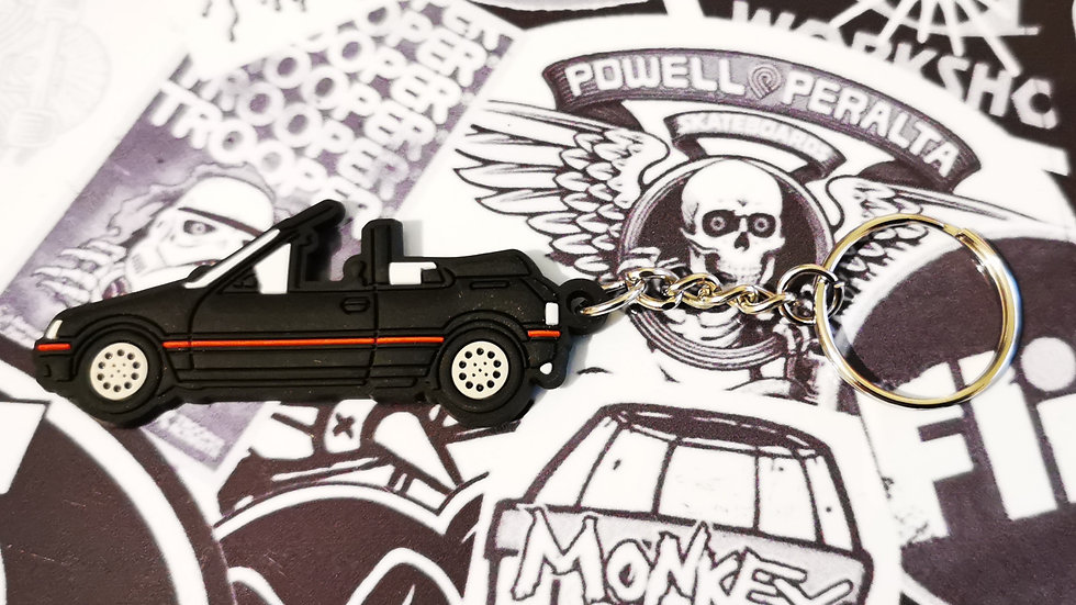Peugeot 205 CTI Car Key Ring Black