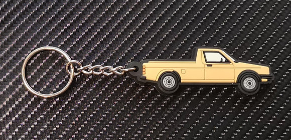 VW Golf Caddy Mk1 Key Ring Beige