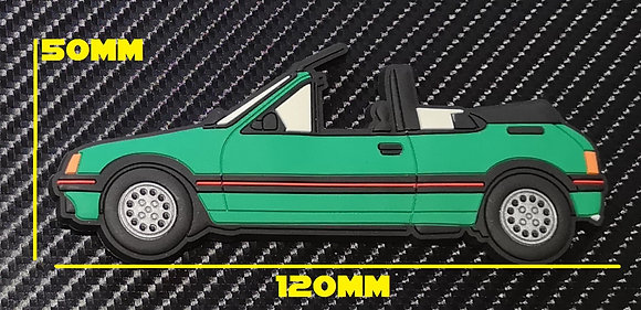 Peugeot 205 Cti Fridge Magnet Laser Green