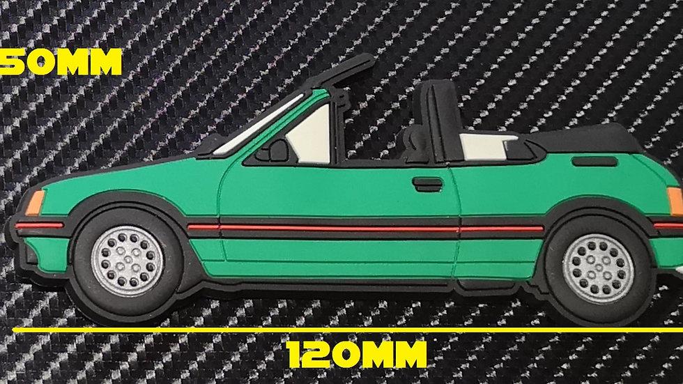 Peugeot 205 Cti Fridge Magnet Laser Green