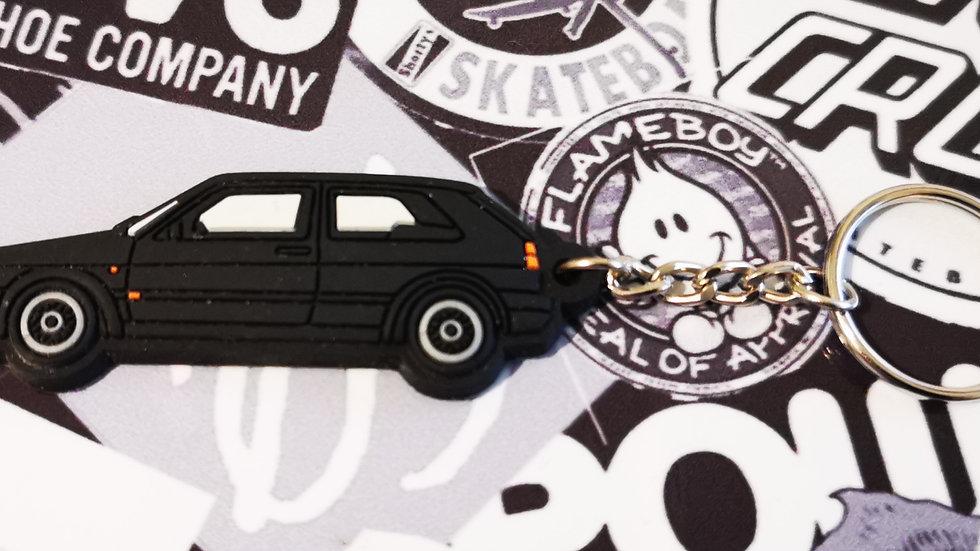 VW Golf GTI Mk2 Key Ring Light Black