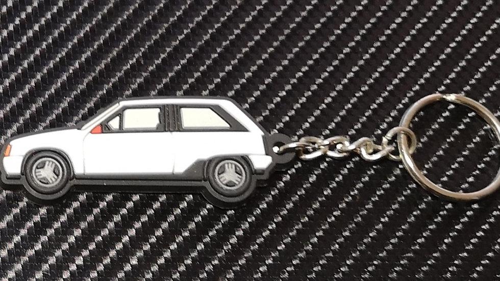 Vauxhall  Nova / Opel Corsa Key Ring White