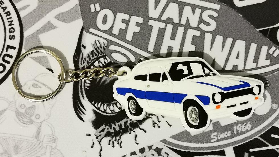 Ford Mark 1 Escort Key Ring White