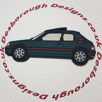 Peugeot 205 Gti Fridge Magnet Green (Sorrento)