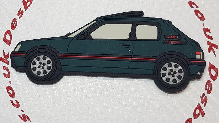 Peugeot 205 Gti Fridge Magnet Green (Sorrento)