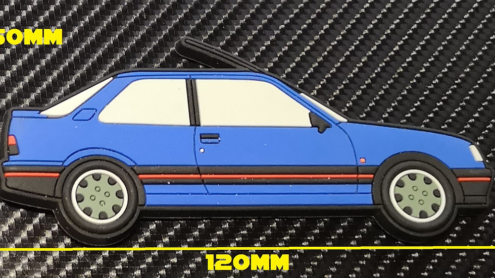 Peugeot 309 GTI Fridge Magnet Miami Blue Goodwood Wheels