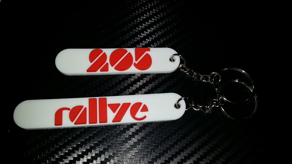 Peugeot 205 Euro Rally Key-Rings 205