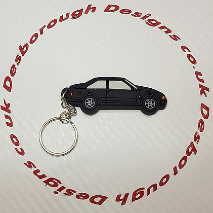 Escort RS Turbo Key Ring Black