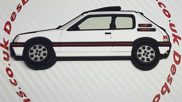 Peugeot 205 Gti Fridge Magnet White