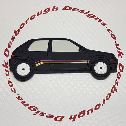 Peugeot 106 Fridge Magnet Phase 1 Rallye Black