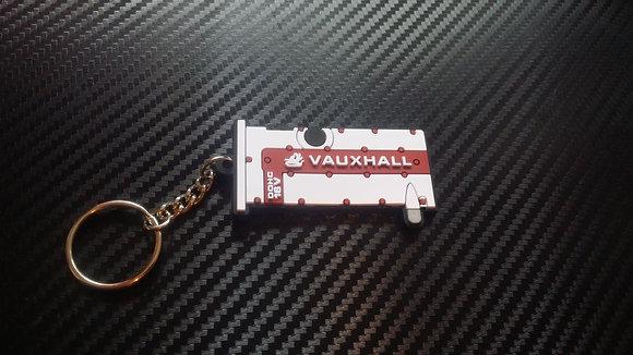 """C20XE Rocker Cover Key Ring """"White/Red"""" Calibra"""