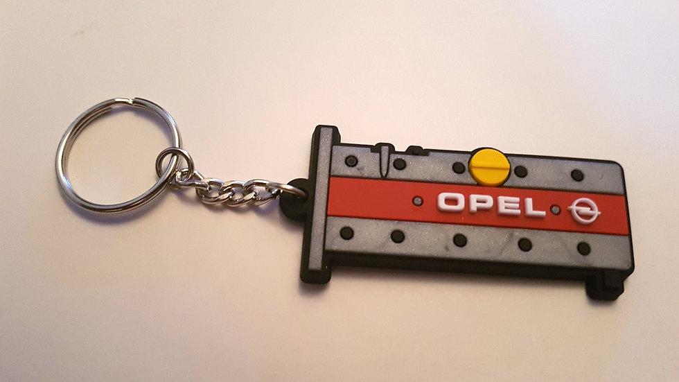 """Opel Z20LET Rocker Cover Key Ring - """"OPEL"""" Red / Silver"""