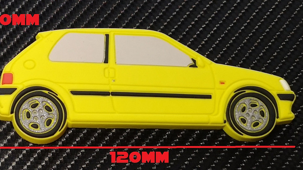 Peugeot 106 GTI Fridge Magnet Yellow
