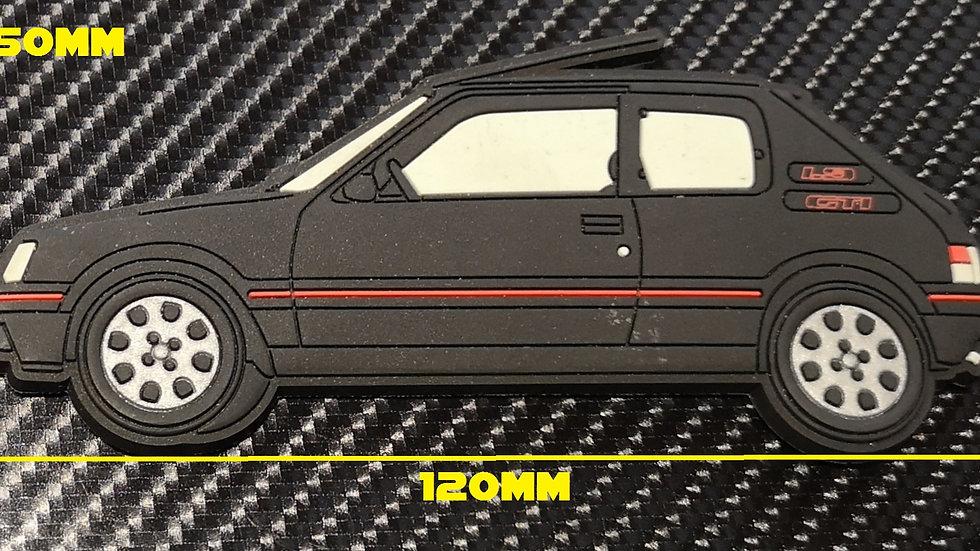 Peugeot 205 Gti Fridge Magnet Black