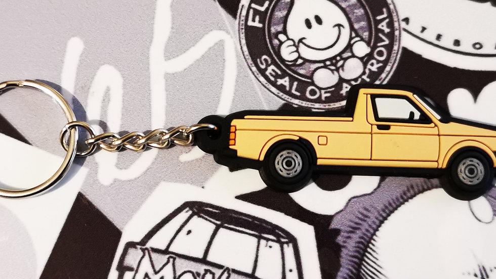 VW Golf Caddy Mk1 Key Ring Beige