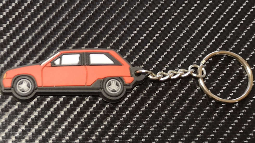 Vauxhall  Nova / Opel Corsa Key Ring Red