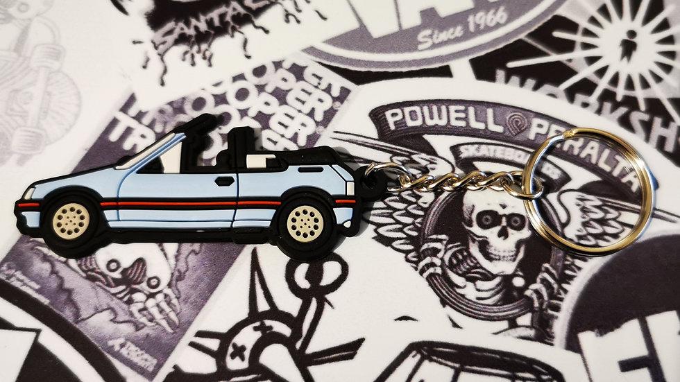 Peugeot 205 CTI Car Key Ring Haze / Topaz Blue