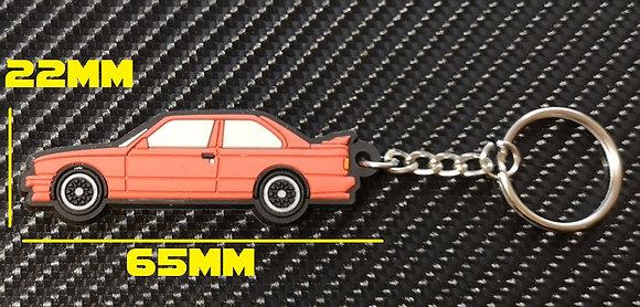 BMW E30 M3 Key Ring Red