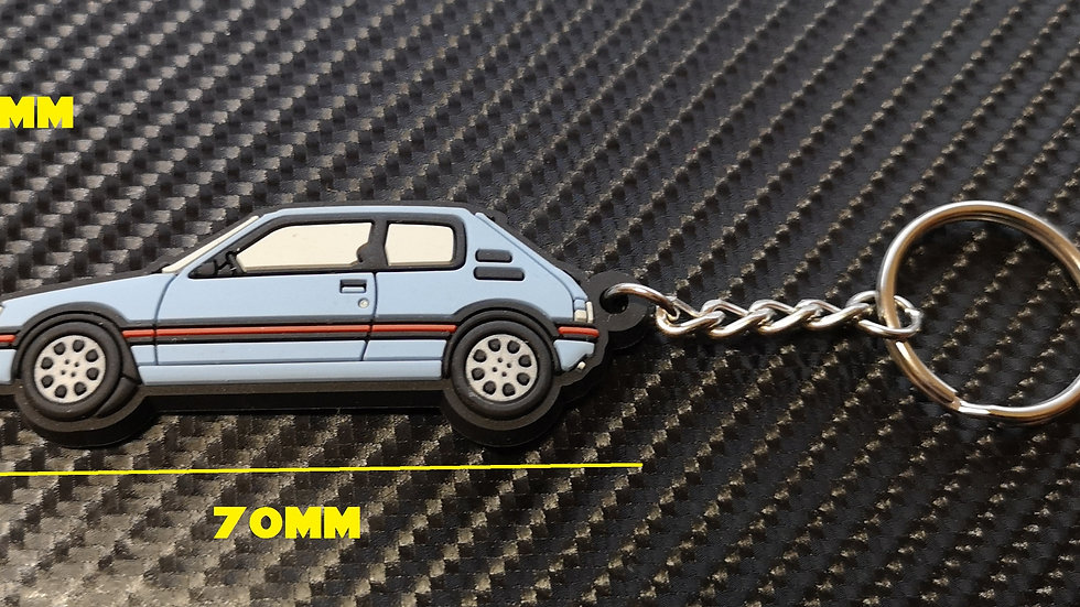 Peugeot 205 GTI Car Key Ring Topaz
