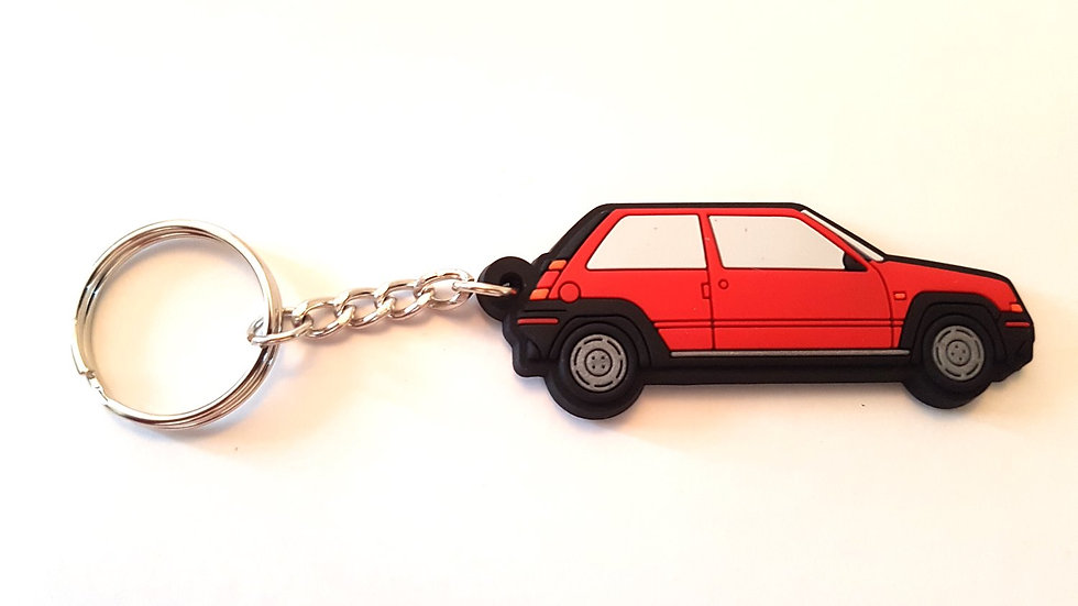 Renault 5 GT Phase 1 Key Ring Red