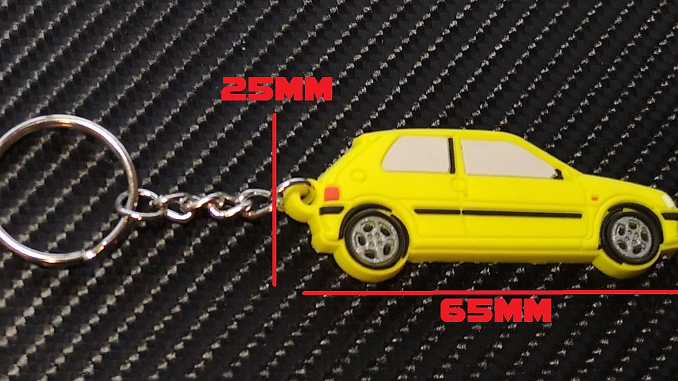 Peugeot 106 GTI Car Key Yellow